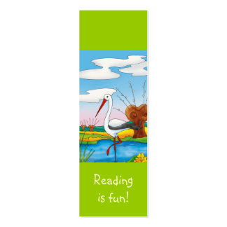 Cute Stork bookmark for young books lovers! Mini Business Card