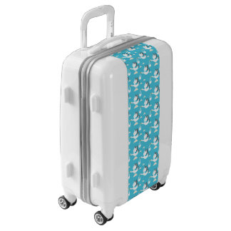 Cute Storks carrying babies pattern Luggage