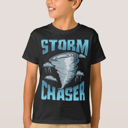 Cute Storm Chaser Severe Weather Tornado Obsessed T_Shirt