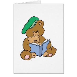 Cute Story Time Teddy Bear Design Card