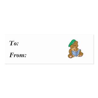 Cute Story Time Teddy Bear Design Mini Business Card