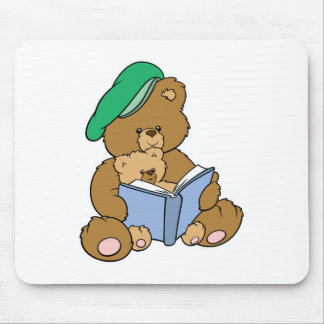 Cute Story Time Teddy Bear Design Mouse Pad