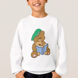 Cute Story Time Teddy Bear Design Sweatshirt