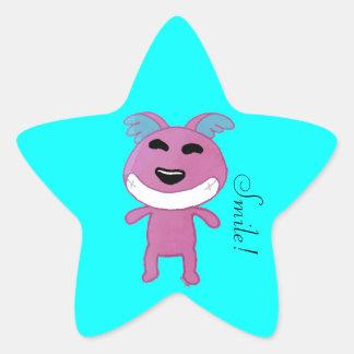 Cute Strange doggy Star Sticker