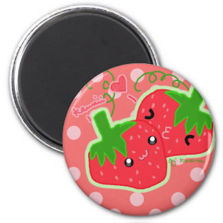 Cute strawberries magnet