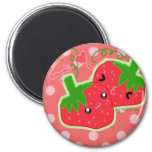 Cute strawberries refrigerator magnets
