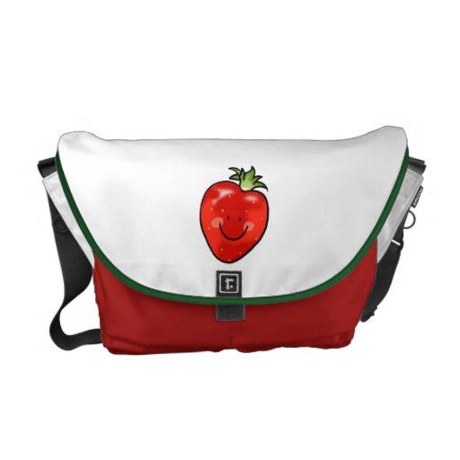 Cute strawberry courier bag