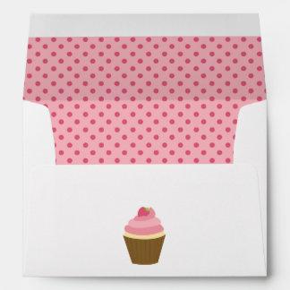 Cute Strawberry Cupcake Envelope