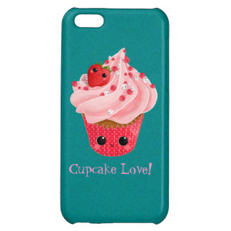 Cute Strawberry Cupcake iPhone 5C Cases