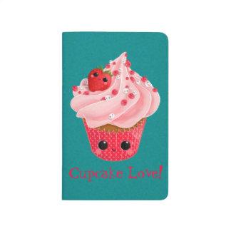 Cute Strawberry Cupcake Journal