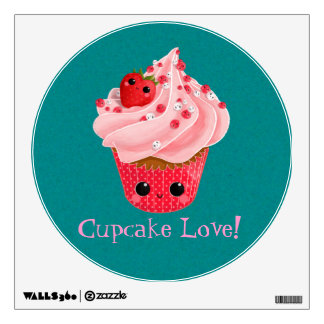 Cute Strawberry Cupcake Wall Decals