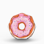 "Cute Strawberry Dipped Sprinkles Doughnuts. Acrylic Award<br><div class=""desc"">Available here: http://www.zazzle.com/produkto</div>"