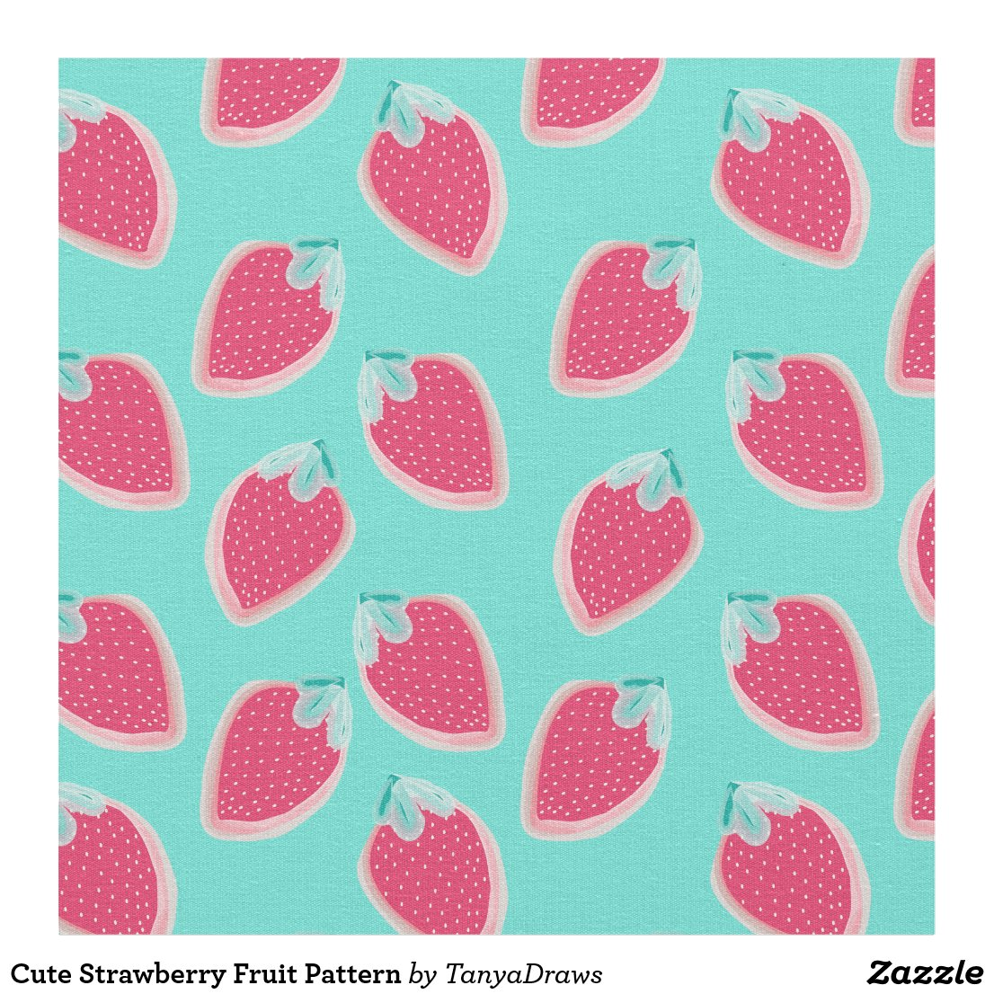 Cute Strawberry Fruit Pattern Fabric