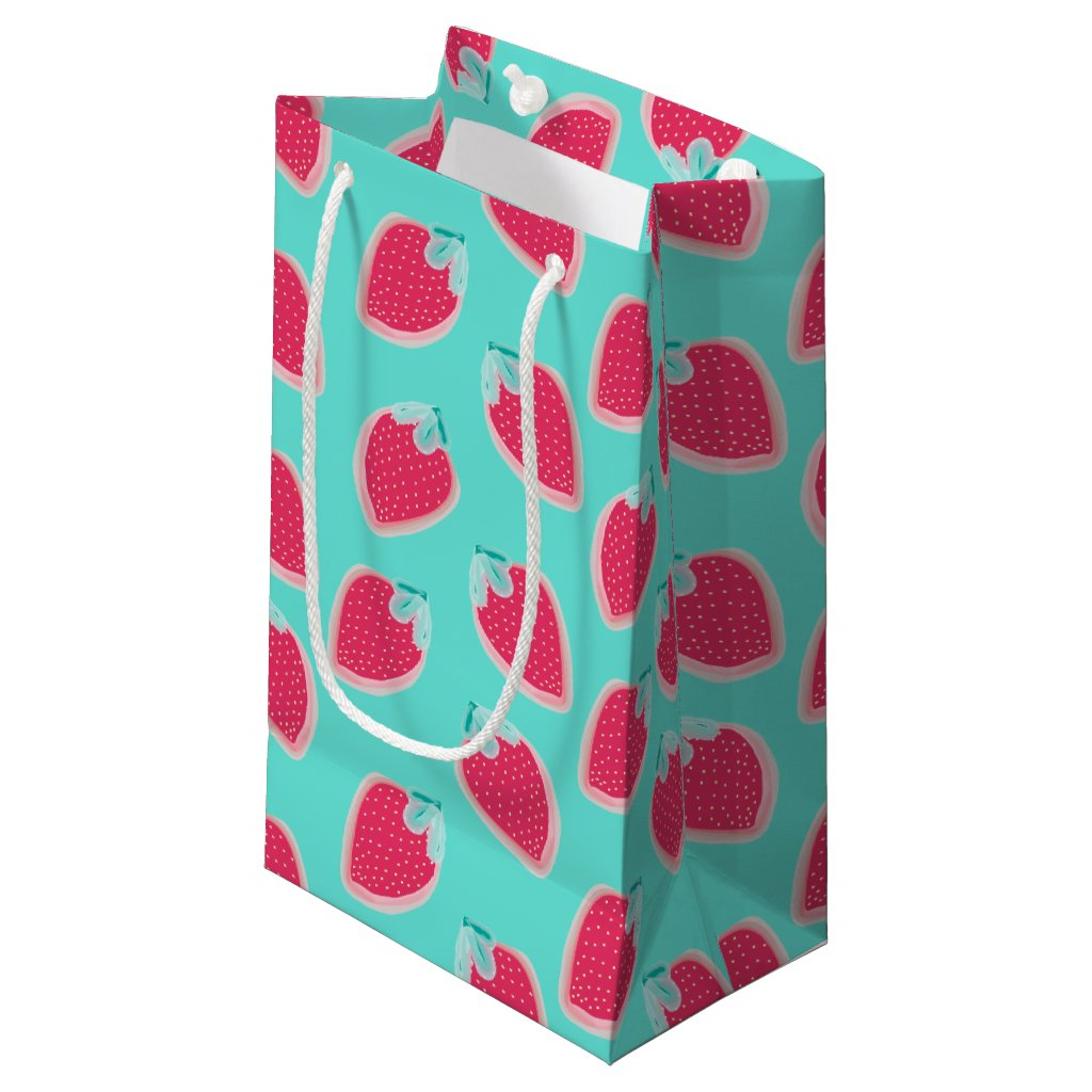 Cute Strawberry Fruit Pattern Small Gift Bag