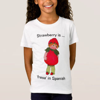 Cute Strawberry Girl Fitted T-Shirt for kids