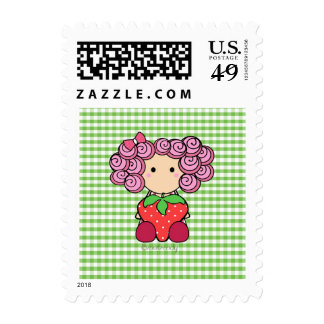 Cute Strawberry Girl Postage Stamp