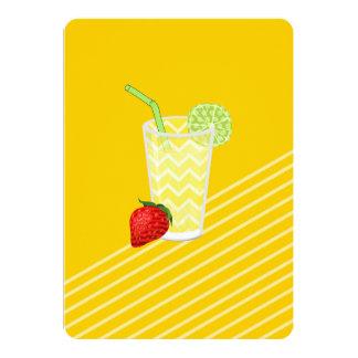 Cute Strawberry Limeade Juicy Drink Card