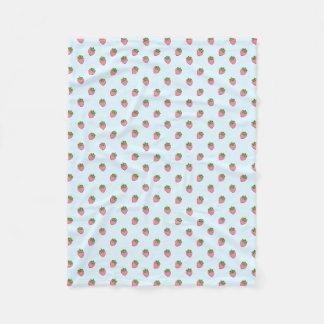 Cute Strawberry Pattern Fleece Blanket