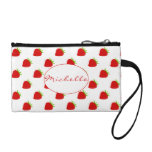 Cute Strawberry Pattern Key Coin Clutch