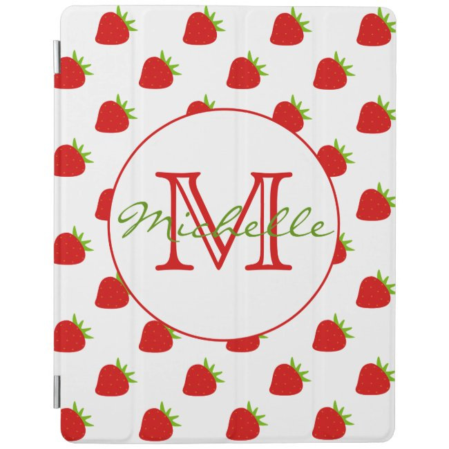 Cute Strawberry Pattern Personalized iPad Cover