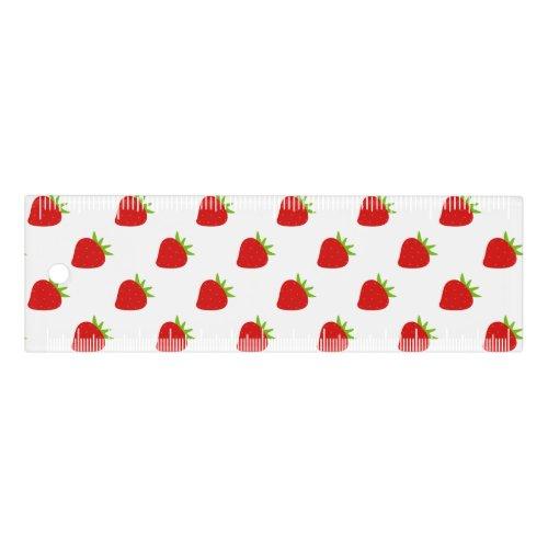 Cute Strawberry Pattern Ruler