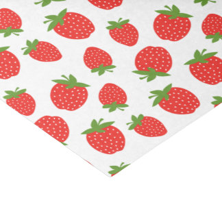 Cute Strawberry Pattern Tissue Paper
