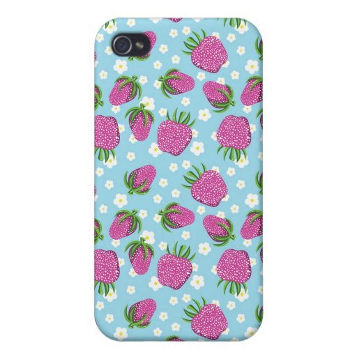 Cute Strawberry Phone Case iPhone 4/4S Cover | Zazzle