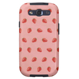 Cute Strawberry Pictures Pattern Galaxy SIII Cover