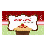Cute Strawberry Pie Bakery Business Cards