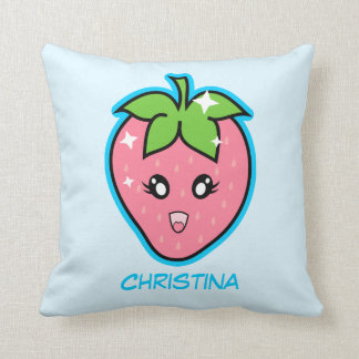 Cute Strawberry Throw Pillow