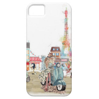 Cute streets of Paris collage iPhone SE/5/5s Case