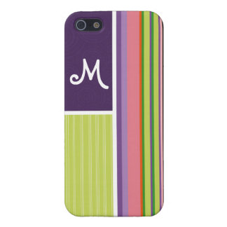 Cute Stripes; Purple & Green Covers For iPhone 5