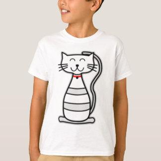 Cute Stripey White Cat T-Shirt
