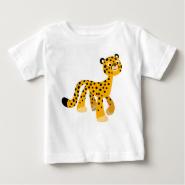 Cute Strolling Cartoon Cheetah Baby T-Shirt