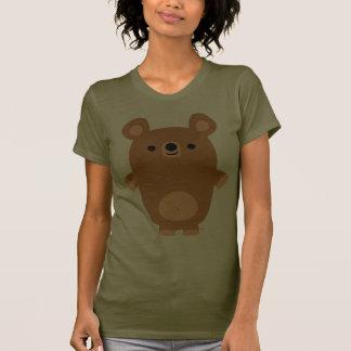 Cute Strong Cartoon Bear Women T-shirt