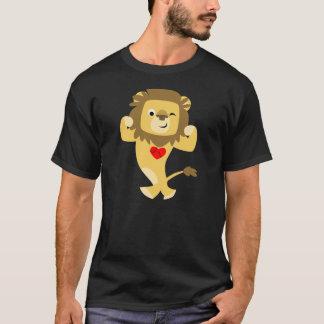 Cute Strong Cartoon Lion Heart T-Shirt