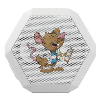 Cute Student Rat White Bluetooth Speaker