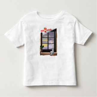 Cute Student Running To Catch School Bus #2 Toddler T-shirt