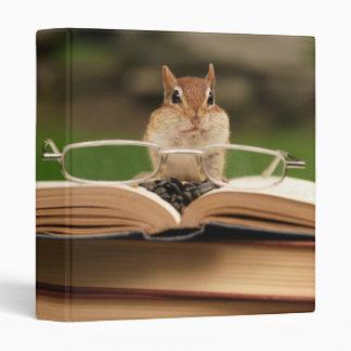 "Cute Studious Chipmunk 1"" Photo Album Binder"