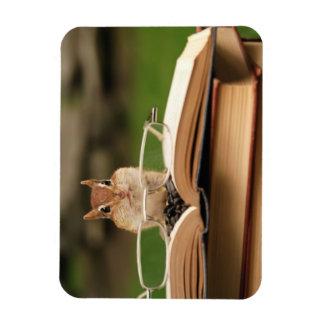 Cute Studious Chipmunk Rectangular Magnets
