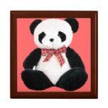 Cute Stuffed Panda Jewelry Boxes