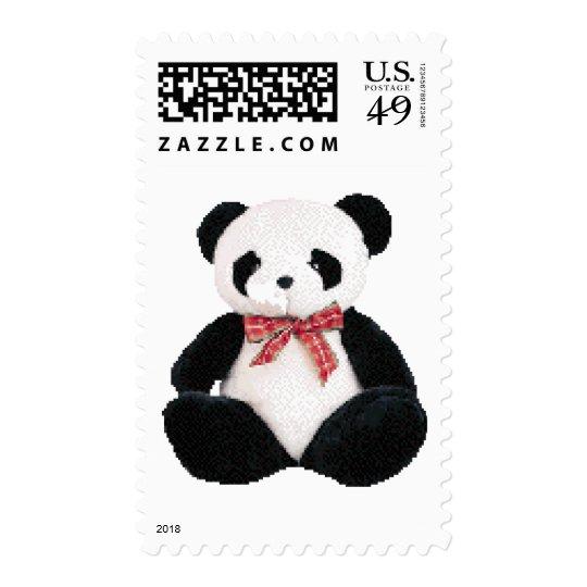 Cute Stuffed Panda Postage