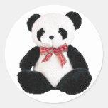 Cute Stuffed Panda Round Sticker