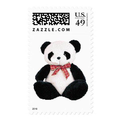 Cute Stuffed Panda Stamp