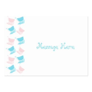 Cute Stylish Colorful Baby Buggy Pattern Design Large Business Card