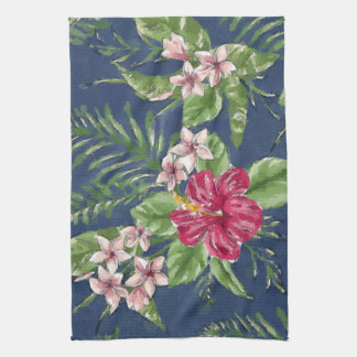 Cute Stylish Colors Tropical Hawaii Floral Pattern Hand Towel