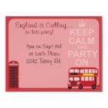 Cute Stylish London Party Custom Announcements