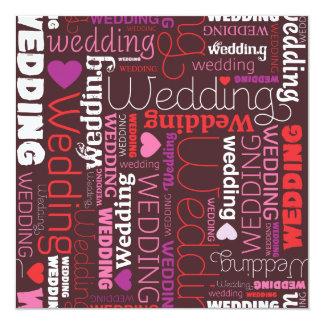 Cute stylish wedding invitations