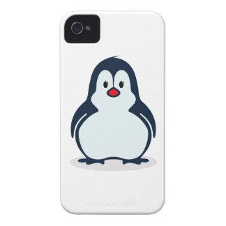 Cute Stylized Cartoon Penguin Facing Forward Case-Mate iPhone 4 Cases