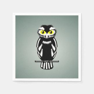 Cute Stylized Owl Paper Napkin